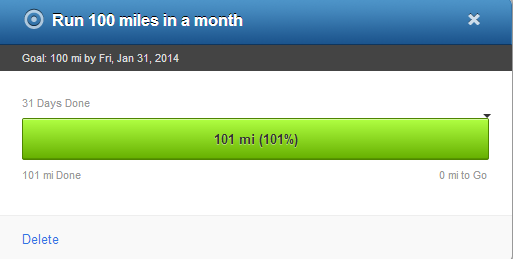 First 100 mile month