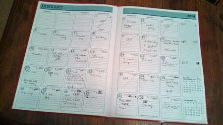 running calendar
