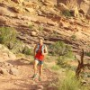Justin running in Moab